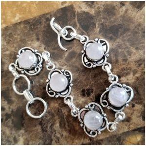 """Jewelry - Dainty & Classy Rose Quarts Bracelet 8"""""""